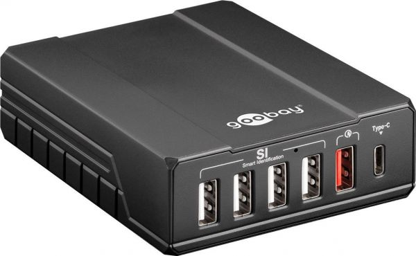 6-fach USB-Multiportlader 10 Ampere